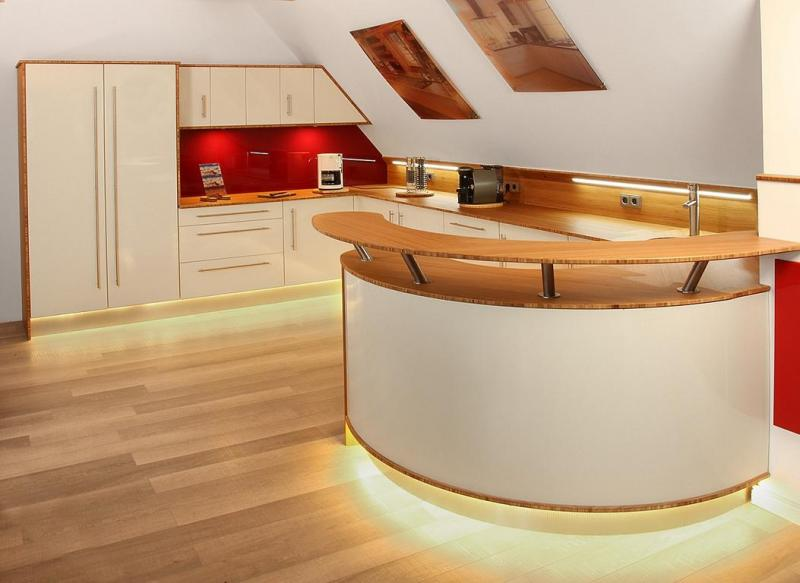 Modern Illuminated Kitchen Countertop