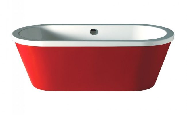 Freestanding-Bath-Carron-Halcyon-Oval-Red